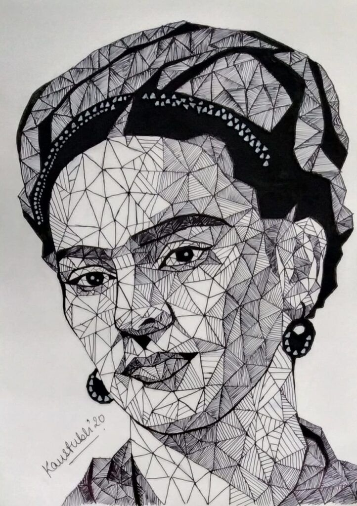 Frida Kahlo made by Kaustubh Srivastva