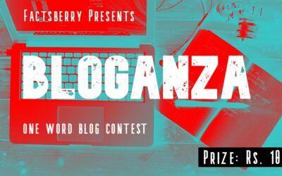 First Bloganza Event – One Word Blogging Contest